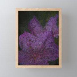 Low Poly Purple Azalea Flowers Framed Mini Art Print