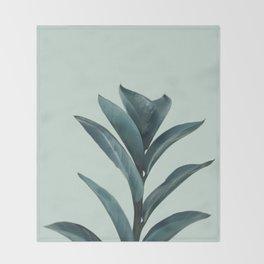 Teal Mint Plant Decke