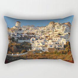 Little Houses Rectangular Pillow
