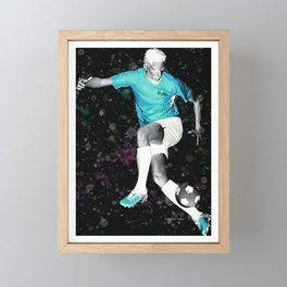 Footballer - Fine Footwork - Negative Framed Mini Art Print