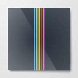 Echeneis - Colorful Stripes  Metal Print