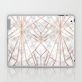 Art Deco Marble & Copper - Large Scale Laptop & iPad Skin