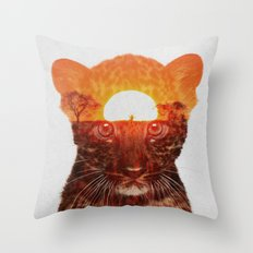 Leopard Cub Throw Pillow