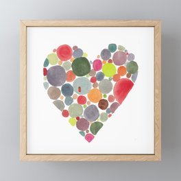Happy heart Framed Mini Art Print