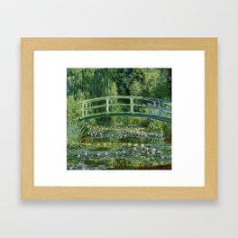 Water Lilies and Japanese Footbridge, Claude Monet Framed Art Print