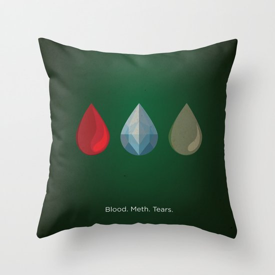 Breaking Bad Tribute Poster Throw Pillow
