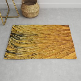 Fancy Rooster Feathers Rug