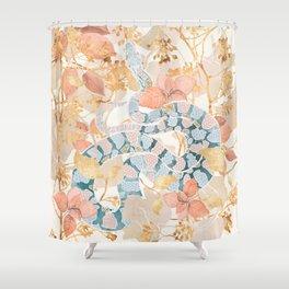 Coral Spring Garden Shower Curtain