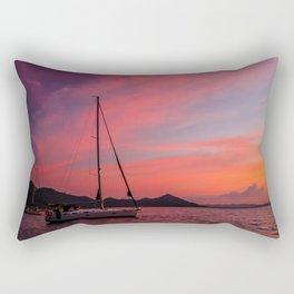 Sailing Boats Against a Purple Sky Rectangular Pillow
