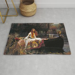 John William Waterhouse - The Lady of Shalott Rug