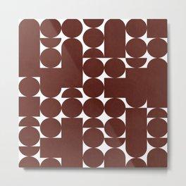 Retro Graphic Print, Geometric Pattern Metal Print