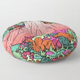 Junglemor mountains Floor Pillow
