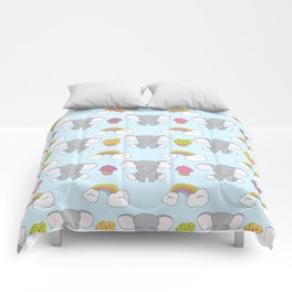 Cute elephants Comforters