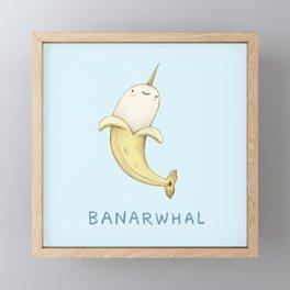 Banarwhal Framed Mini Art Print