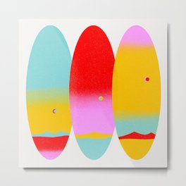 Sunsets and Surfboards Metal Print