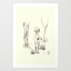 let's hide it in the forest Art Print