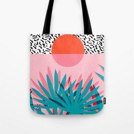 Whoa - palm sunrise southwest california palm beach sun city los angeles retro palm springs resort  Tote Bag