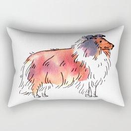 Toby - Dog Watercolour Rectangular Pillow