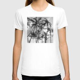 Lush Palm Trees in Tropical Island Sky T-shirt