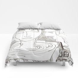 head mess Comforters