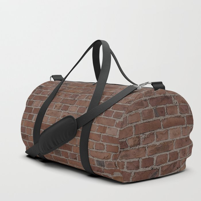 NYC Big Apple Manhattan City Brown Stone Brick Wall Duffle Bag