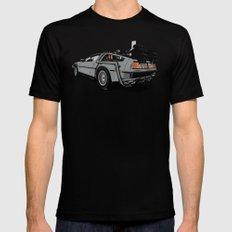 DeLorean Mens Fitted Tee Black SMALL