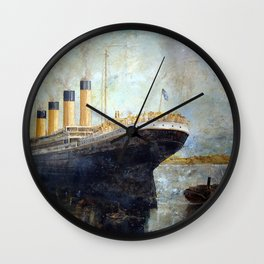 Titanic March 2010 by Ray Sinclair Wall Clock