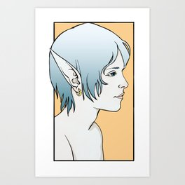 Fayez, Elven Rogue Art Print