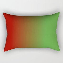 Ombre in Red Green Rectangular Pillow