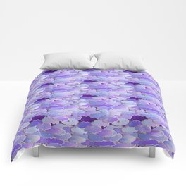 Japanese Clouds, Twilight, Violet and Deep Purple Comforters