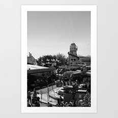 Fairground, black&white Art Print