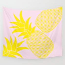 Ananas baby pink Wall Tapestry