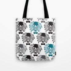 Hipster baboon monkey man Tote Bag