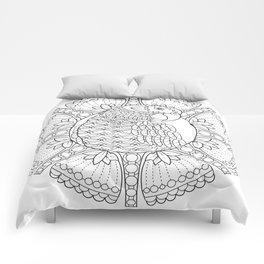 Parrot Mandala - Color Your Own Coloring Art Comforters