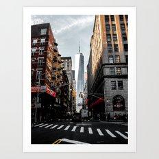 Lower Manhattan One WTC Art Print