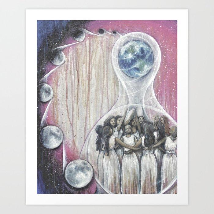 The World - Tarot Card Art Art Print
