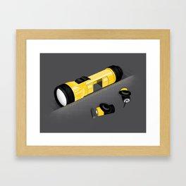 Traveling at the speed of light Framed Art Print