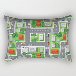 Fun Town Overview Pattern Rectangular Pillow