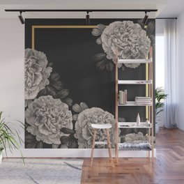 Flowers on a winter night Wall Mural