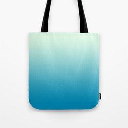 Ombre Hawaiian Ocean Blue Sea Green Gradient Motif Tote Bag