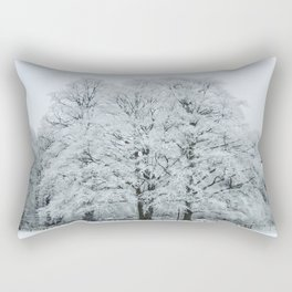 Frozen and Frosted Trees Rectangular Pillow