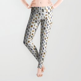 Science cats. History of great discoveries. Schrödinger cat, Einstein. Physics, chemistry etc Leggings