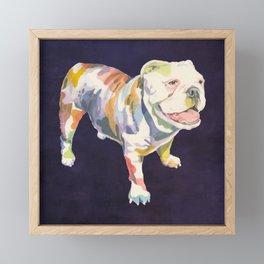 English Bulldog Framed Mini Art Print