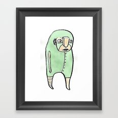 feeling green Framed Art Print
