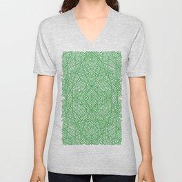 Ab Lace Green Unisex V-Neck