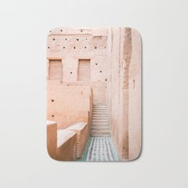 Colors of Marrakech Morocco - El badi palace photo print | Pastel travel photography art Bath Mat