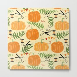Lovely Pumpkins Metal Print