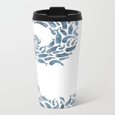 Whale Wave.  Metal Travel Mug