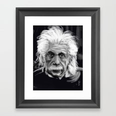 Speed Portraits: Einstein Framed Art Print