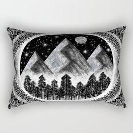 Touch the Mountains Rectangular Pillow